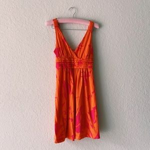 AEO Pink and Orange Summer Dress